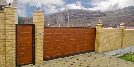Пример откатных ворот